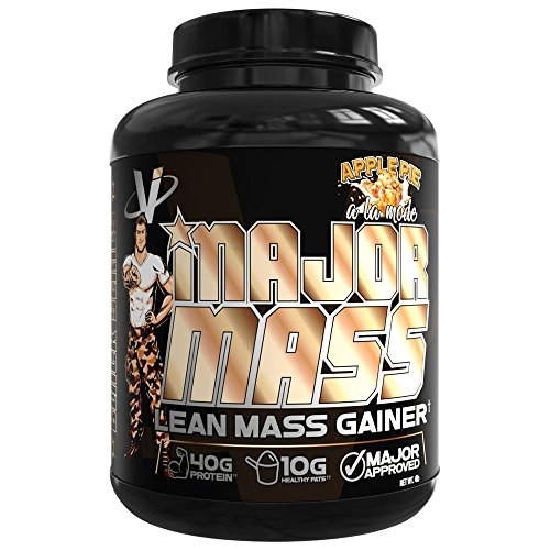 VMI Sports, Major Mass Lean Mass Gainer, Apple Pie, 60 Scoops (4 lbs.), Protein Powder with Protein to Carbohydrates to Fats Ratio for Lean Muscle Mass & Weight Gaining, Pre- or Post-Workout Review