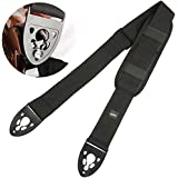 Guitar Strap for Electric Guitar Bass with Quick Lock and Shoulder Pad
