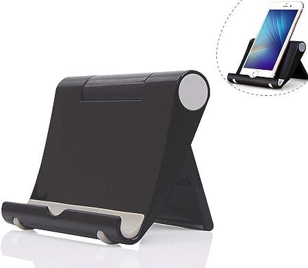 Dosige Soporte móvil télefono sobre la Mesa, Soporte Multiángulo para iPad Tabletas iPhone X/8 Plus/7/6 Plus/6s/6/SEGalaxy Samsung y Android Smartphone(Negro): Amazon.es: Hogar