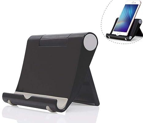 fb0de481bea Dosige Soporte móvil télefono Sobre la Mesa, Soporte Multiángulo para iPad  Tabletas iPhone X/