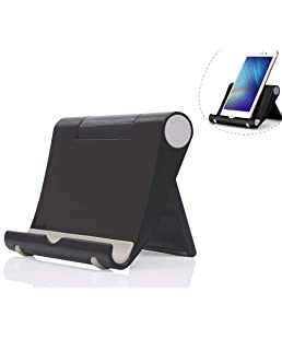 Dosige Soporte móvil télefono Sobre la Mesa, Soporte Multiángulo para iPad Tabletas iPhone X/8 Plus/7/6 Plus/6s/6/SEGalaxy Samsung y Android Smartphone(Negro)