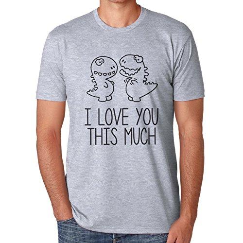 I Love You This Much T Rex Dinosaur Herren T-Shirt