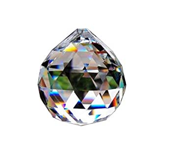 Amazon clear glass crystal ball prism pendant suncatcher 40mm clear glass crystal ball prism pendant suncatcher 40mm pack of 2 aloadofball Images
