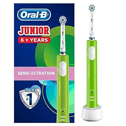 Oral-B Junior Elektrische Zahnbürste, für Kinder ab 6 Jahren, grün 1