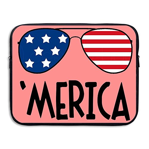 Laptop Sleeve Case Protective Bag Merica Colorful Sunglasses Logo Printed Ultrabook Briefcase Sleeve Bags Cover For 13 Inch Macbook Pro/Notebook/Acer/Asus/Lenovo - Sunglasses R Logo