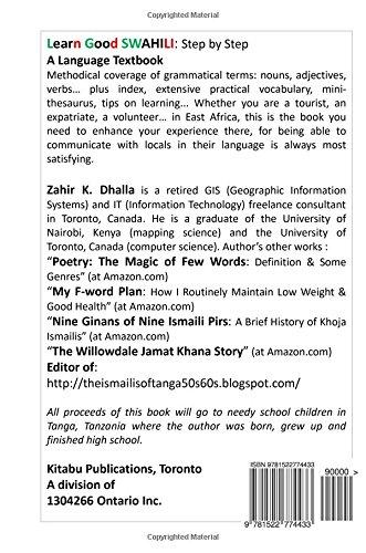 Learn Good SWAHILI: Step by Step: A Language Textbook: Zahir K ...