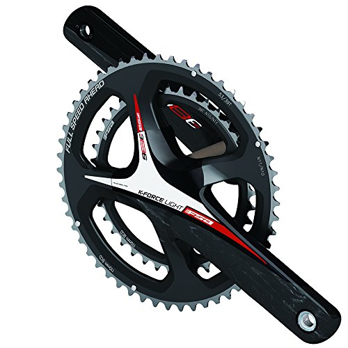 Road Cranks Crankset - Full Speed Ahead FSA K-Force Light ABS EVO386 Road Bicycle Crankset (Black/Red Logo - 34/50-172.5mm w/o BB 86 x N-11)