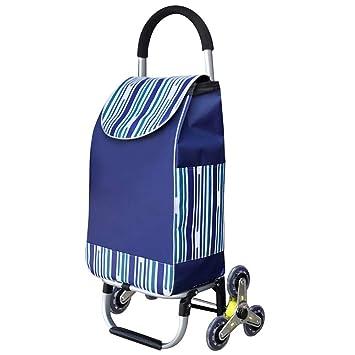 SXRNN Plegable Carrito de Compra PequeñOs Carga 40 kg para Subir Escaleras De Tres Ruedas Remolque PequeñO Trolley: Amazon.es: Hogar