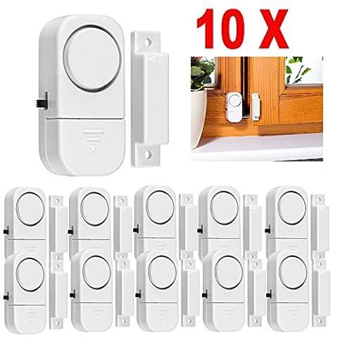 10X WIRELESS Home Window Door Burglar Security ALARM System Magnetic Sensor (Doberman Door Alarm With Remote)