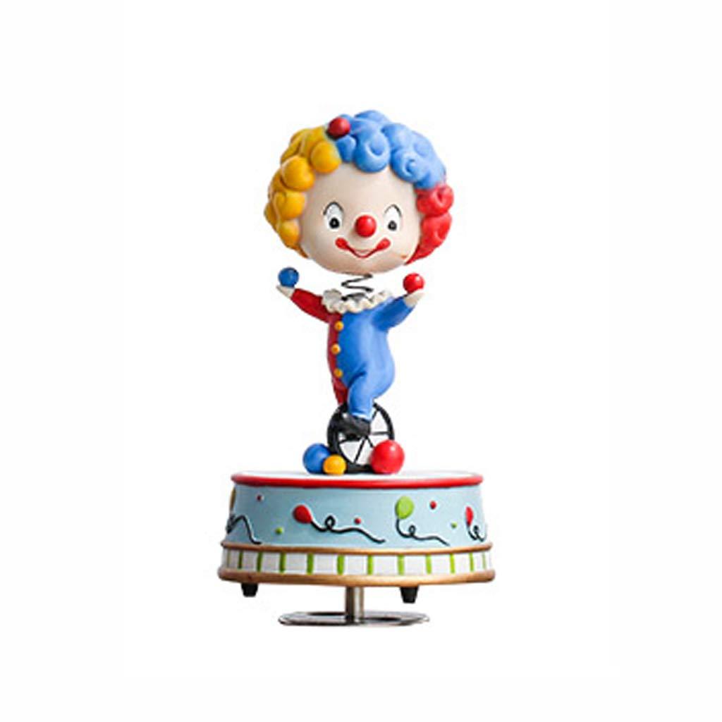 CWT-MUSIC BOX Spieluhr Elefant drehende Spieluhr Clown-Spieluhr Bunte Spieluhr (größe   Clown) B07KQ37NC4 Spieluhren Meistverkaufte weltweit | Smart