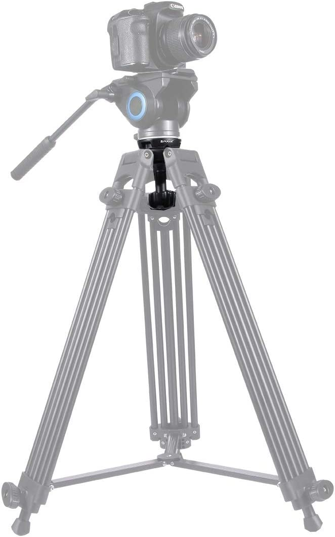 CAOMING 75mm Half Ball Flat to Bowl Adapter for Fluid Head Tripod DSLR Rig Camera Metal Material Durable