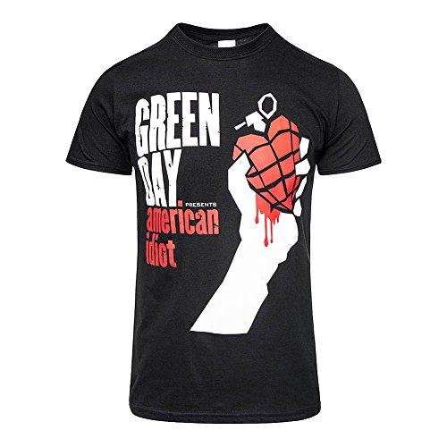 Green Day Men's American Idiot Slim Fit T-shirt Medium Black