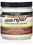 Aunt Jackie's Coconut Crème Recipes Coco Repair, Coconut Crème Deep Conditioner, Repair and Restores Damaged Hair, 15 Ounce Jar