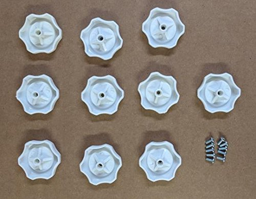 10 Each-RV Mobile Home Plastic Window Crank Handles White Round 1/4'' Shaft #743 by MHRV (Image #5)