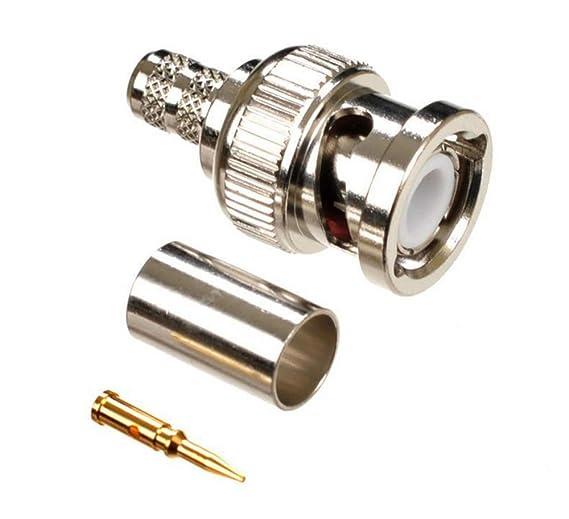 half off sale uk dirt cheap Malayas® 20 Unidades x Conectores BNC Macho Soldadura para Cable Cámera  CCTV Coaxial RG59 - Rendimiento estable y profesional, estable