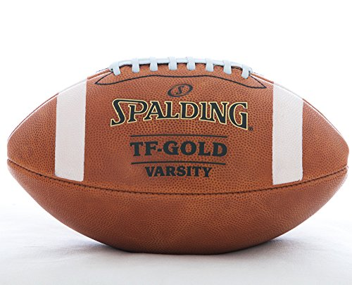 - Spalding Leather Football TF-Gold Varsity Top Grain Leather NFHS Approved Full Size Premium Football