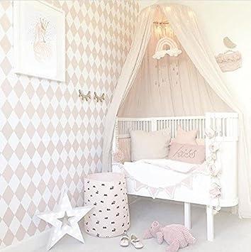 betthimmel baldachin bett berdachung aus baumwolle leinwand deko fr baby kind zelte - Prinzessin Bett Baldachin Mit Lichtern