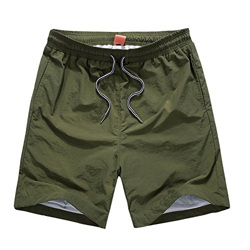 Jessie Kidden Womens Shorts Swim Trunks Quick Dry Beach Shorts with Pockets for Surfing Running Swimming Watersport #8889F,1Pack, Army Green, US 4 -Tag - Shorts Army Us Running