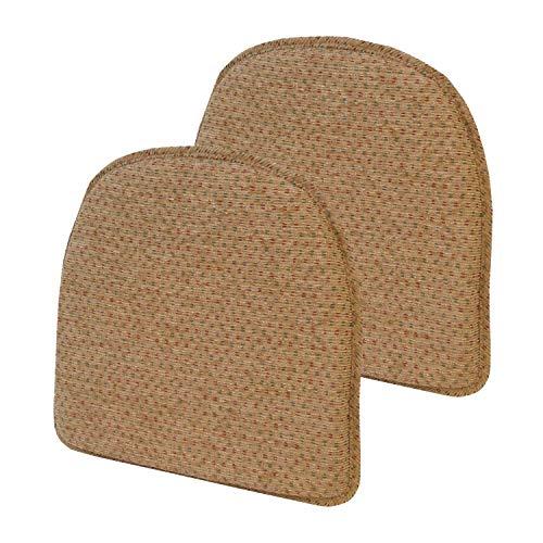 Klear Vu Raindrop Essentials Non Slip Dining Chair Pad Cushion, Set of 2, 16