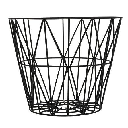 Ferm living wire basket black medium h50 x b50 cm amazon ferm living wire basket black medium h50 x b50 cm greentooth Images