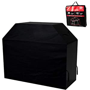 Turtle Life 58 inch 3-4 Burner BBQ Grill Cover, Heavy Duty Premium Durable Waterproof BBQ Cover for Weber, Brinkmann, Char Broil etc(Black)