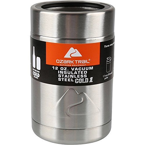Ozark Trail 12 Ounce Double Wall Vacuum Insulated Can Cooler Cup (3, Stainless Steel) by Ozark Trail