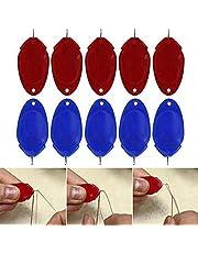 Sewing Needle Threader, Simple Threader 10/20 Pcs Plastic Threader Self Sewing threaders Hand Machine Sewing Tool for Needlework Hand Sewing Yarn and Embroidery (10 Pieces)