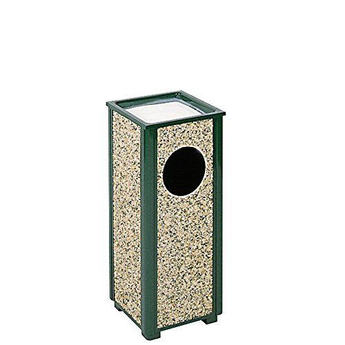 Rubbermaid Commercial Products FGR41202PL Aspen Series Ash/Trash Refuse Receptacle (2.5-Gallon, Green)
