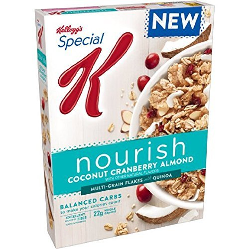 Cereal Cranberry (Kellogg's, Special K, Nourish Cereal, 14oz Box (Pack of 4) (Choose Flavors) (Coconut Cranberry Almond))