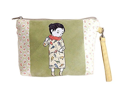 Fresh Style Cartoon Canvas Cosmetic Bags/Purse - Potency Green Tea