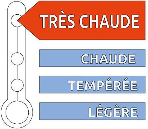 Bleu C/âlin Couette Modulable 2 Personnes Blanc K2P46 220x240 cm