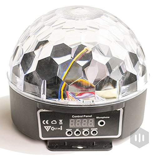 LED Disco Ball by NuLights - RGB LED Party Lights - 100% RISK FREE! Best for Kids Parties, DJ & Mood Lighting. Party Light for Indoors / Outdoors - DMX, Sound Activated, Digital Display, 5 Color
