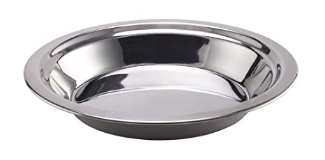 Stainless Steel Plate//Bowl 20cm Drinking Outdoor Eating Summit Camping