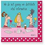 Design Design Vital Information Cocktail Napkins, Multicolor