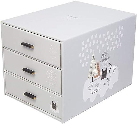 XHHWZB Caja de Almacenamiento de Escritorio de bambú de los cajones de 3 Niveles Organizador de Escritorio Unidad de Almacenamiento de Escritorio Tenedor de la Pluma para la Oficina en casa: Amazon.es: