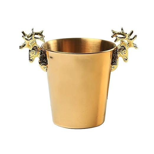 Compra GLLL-Ice Bucket Cabeza De Ciervo De Acero Inoxidable ...