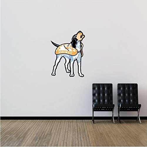 Tennessee Volunteers NCAA USA Dog Logo College Sport Art Wall Decor Sticker 19'' x 25''