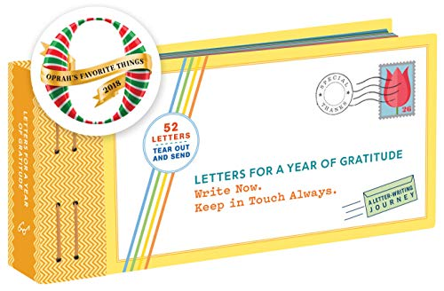 Letters for a Year of Gratitude: Write Now. Keep in Touch Always. from Chronicle Books