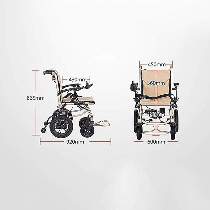 AGWa Cajolg ligero plegable Silla de ruedas eléctrica, 360 ...