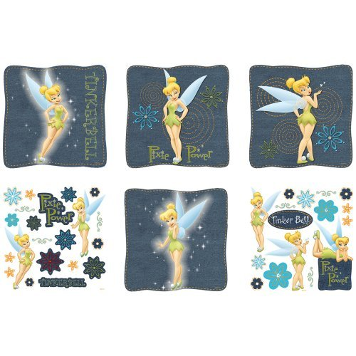 Blue Mountain Wallcoverings 31420680 Tinker Bell Self-Stick Decorating Kit, Denim by Blue Mountain Wallcoverings