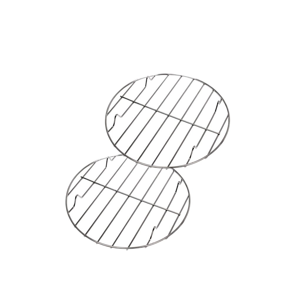 Homyl Set of 2 Heat Resistance Steel Wire BBQ Grate Grids Cooking Meshes,22,25cm,for Baking Pan, Oven Safe,Cooking, Roasting, Drying, Grilling