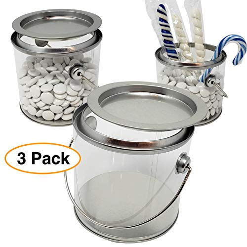 Clear Pails | Plastic Container with Lid (3 Pack) 4