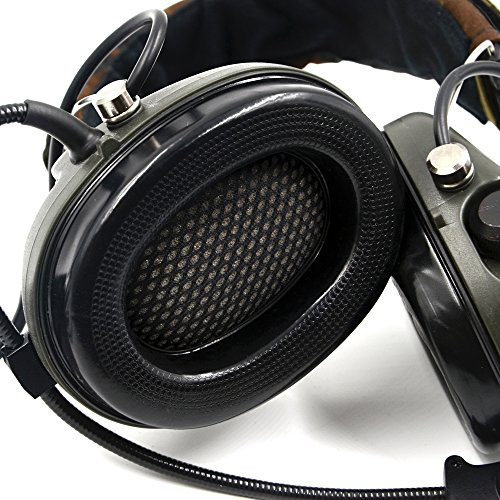 Impact Sport Sound Amplification Electronic Earmuff, Classic Green by Dolphin (Image #3)