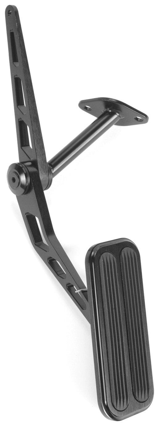 Lokar XBAG-6129 Black Billet Gas Pedal with Insert for Chevelle