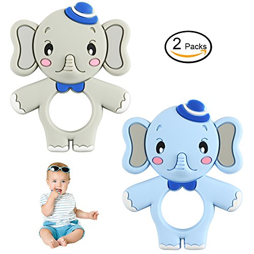 Baby Teethers - Tinabless Elephant Silicone Chewing Toys Set