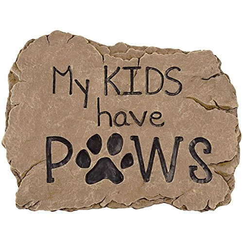 Carson Home Accents 13028 Kids Paws Garden Stone