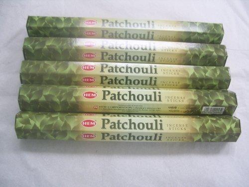 Patchouli Incense Sticks - Hem Patchouli 100 Incense Sticks (5 X 20 Stick Packs)