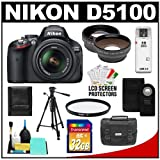 Nikon D5100 Digital SLR Camera and 18-55mm G VR DX AF-S Zoom Lens with 32GB Card + .45x Wide Angle and 2.5x Telephoto Lenses + Remote + Filter + Tripod + Accessory Kit, Best Gadgets