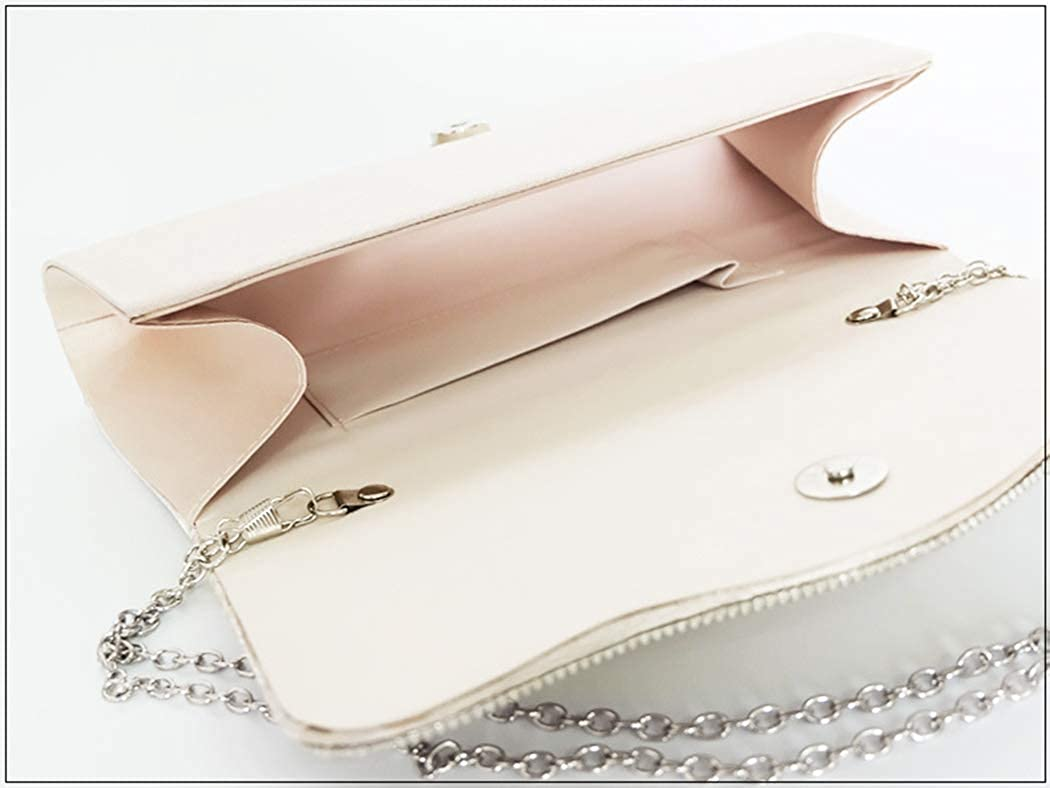 Tngan Women Envelope Clutch Imitation Pearl Evening Bag Handbag Party Prom Purse