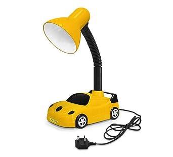 Lámpara de escritorio para automóvil retro de Lichtracing, flexible de color amarillo y negro con